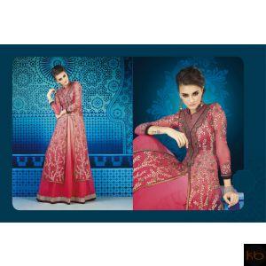 Semi Stitched Beautiful Long Anarkali Suit₹4,760