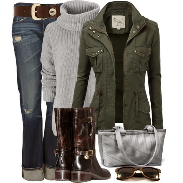 Chic OutfitChic Outfit, Fashion, Casual Outfit, Style, Clothing, Jackets, Winter Outfit, Fall Outfit, Boots