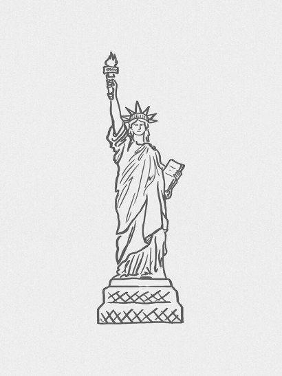 Estátua da Liberdade Minimalista