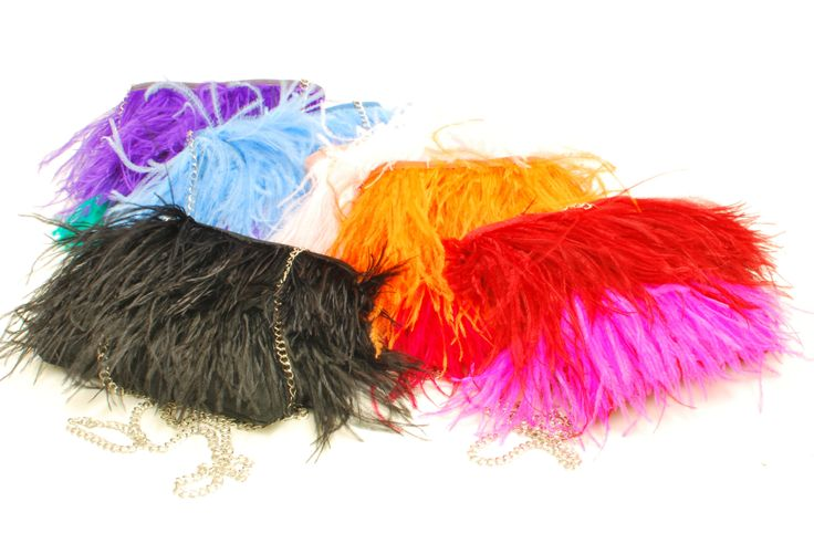 Colourful ostrich feather bags #ostrich #southafrica