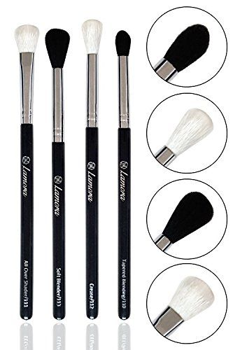 Pro Blending Brush Set - Smoky Eye Shadow Contour Kit - 4 Essential Shapes - Best Choice Crease, All Over Shader, Tapered, Soft Blender - For Shading & Blending of Eyeshadow Cream Powder Highlighter. For product & price info go to:  https://beautyworld.today/products/pro-blending-brush-set-smoky-eye-shadow-contour-kit-4-essential-shapes-best-choice-crease-all-over-shader-tapered-soft-blender-for-shading-blending-of-eyeshadow-cream-powder-highlight/