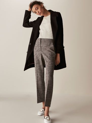 CROPPED FIT EMBELLISHED TROUSERS - null -  Massimo Dutti