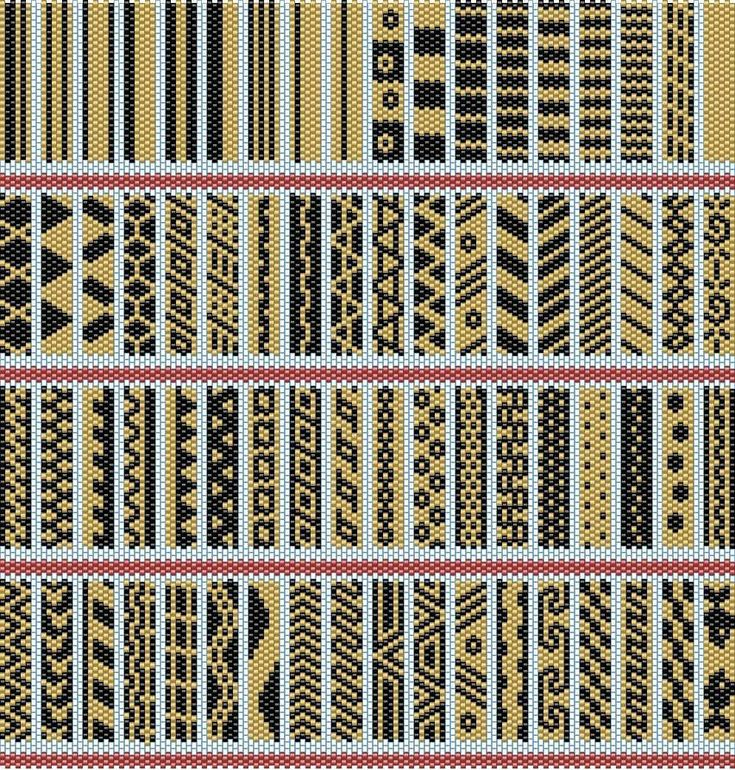 Carrier beads patterns