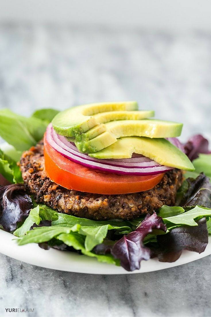 No matter your diet, these black bean quinoa burgers are a tasty, nutritious way to feed your body some plant-based protein. Plus, they're also quick and easy to make, which is always a bonus when it comes to making healthy recipes on busy weeknights. | Yuri Elkaim