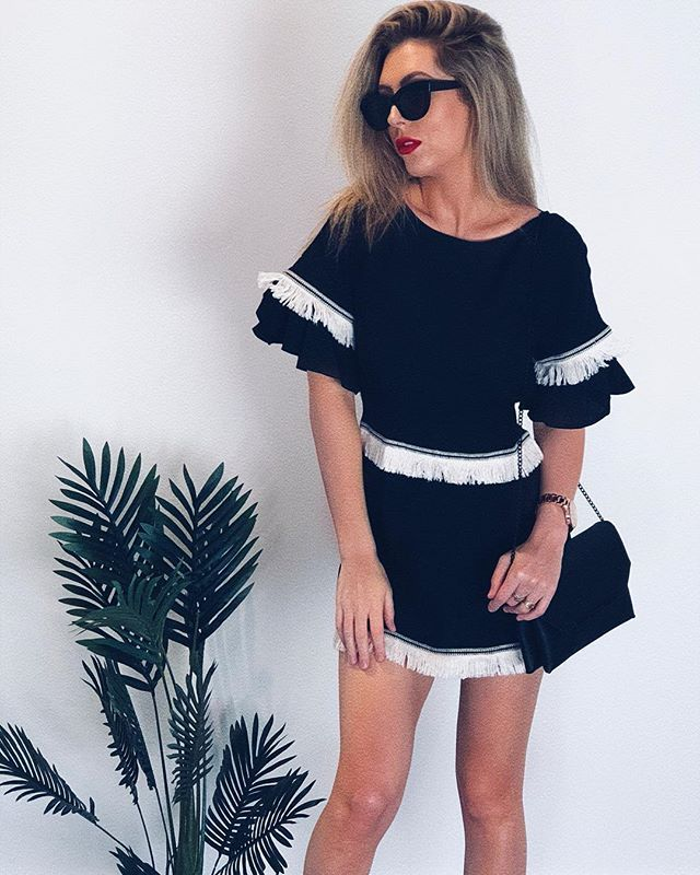 Over And Out Dress Black