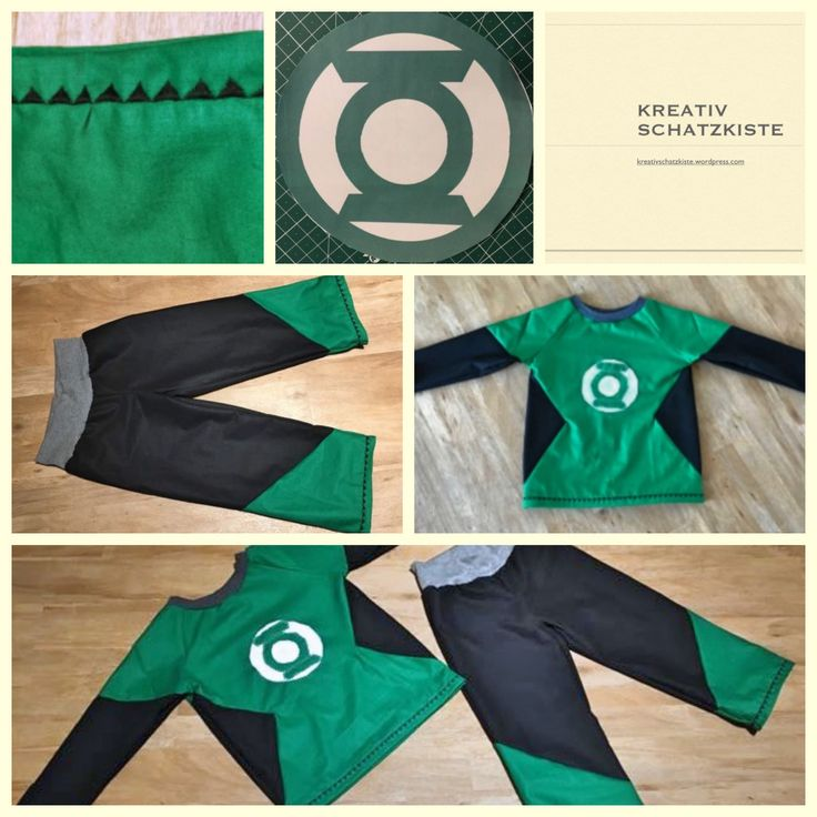 Green Lantern Kostüm für Kinder - selbst genäht!  How to sew a Green Lantern Costume for kids!