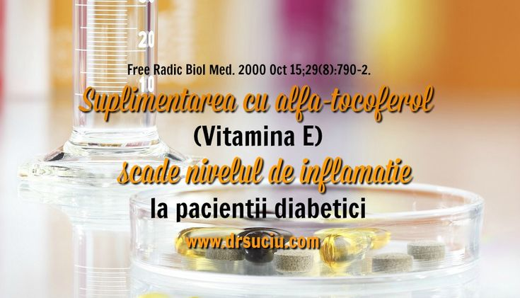 Aveti diabet ? Stiati despre beneficiile suplimentarii cu vitamina E ?