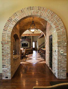 Brick Arch - mediterranean - hall - other metro - Terry M. Elston, Builder