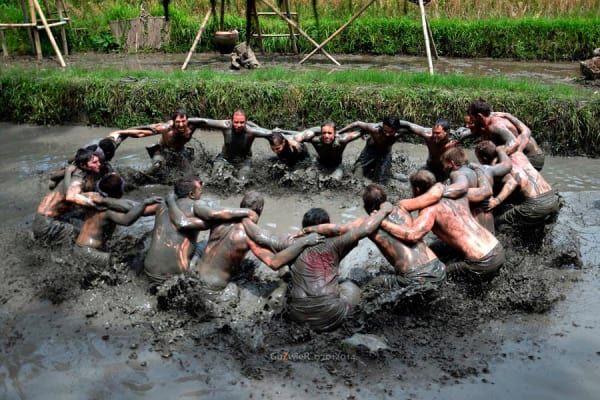 Mepantigan Balinese Mud Games