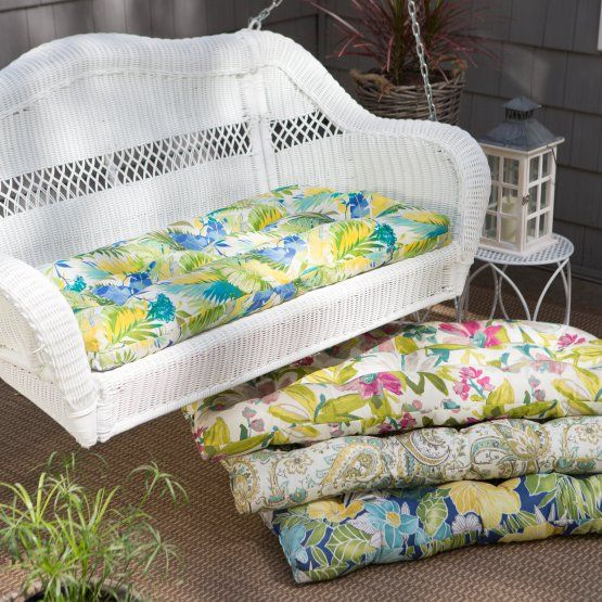 Coral Coast Casco Bay Resin Wicker Porch Swing with Optional Cushion