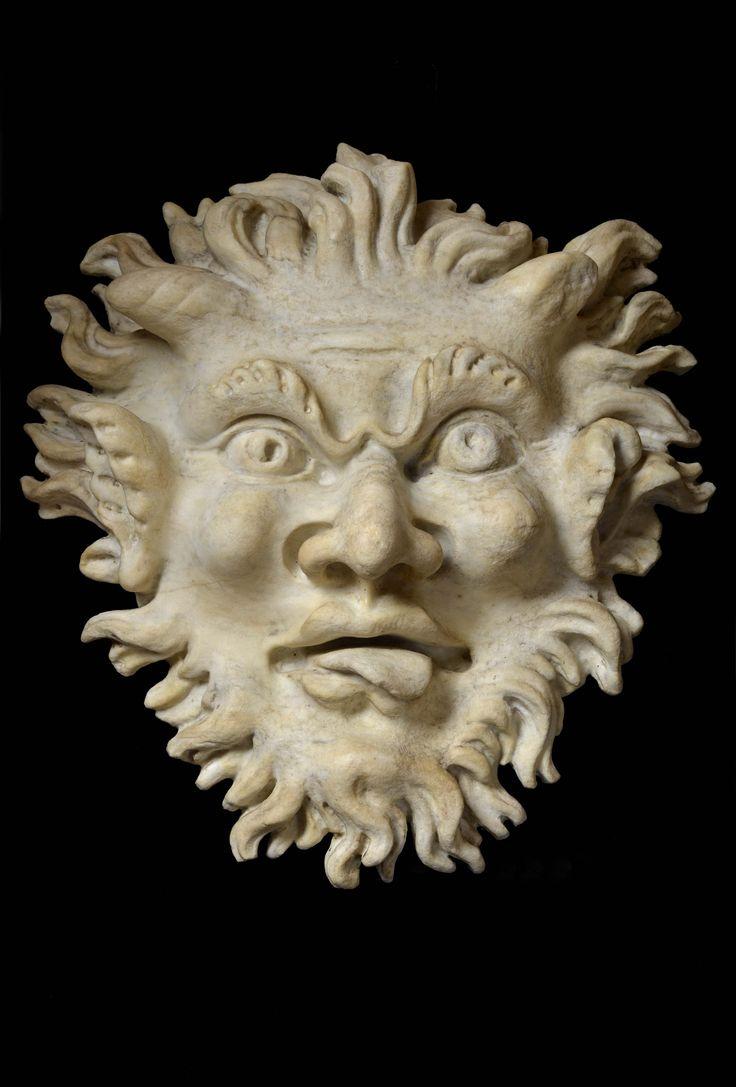 "ANDREA DI MICHELANGELO FERRUCCI (Fiesole, 1559 - Firenze, 1626)  ""Mascherone"", Grotesque Mask   White Carrara Marble"