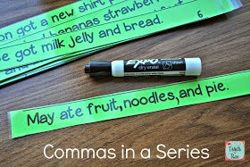 Here are some activities I have done recently to teach commas in a series. This seems to be a standard that spans many grade levels.      I ...