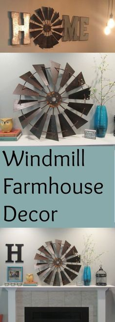Decorate the home with a statement piece like this! This windmill is gorgeous! Perfect for the farmhouse look. #affiliate #homedecor #farmhouse #fixerupperstyle #windmill