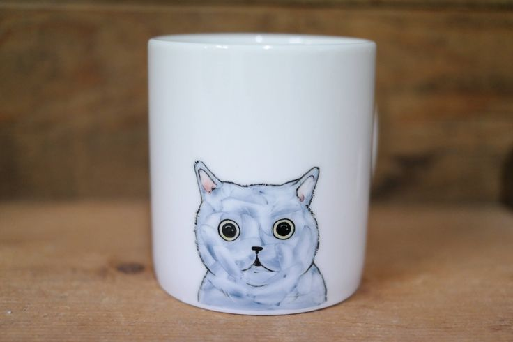 Hand painted animal mug cup - Cute  mug cup -Funny Cat  mug cup - Gift for girlfriend by CreativeStoneCera on Etsy