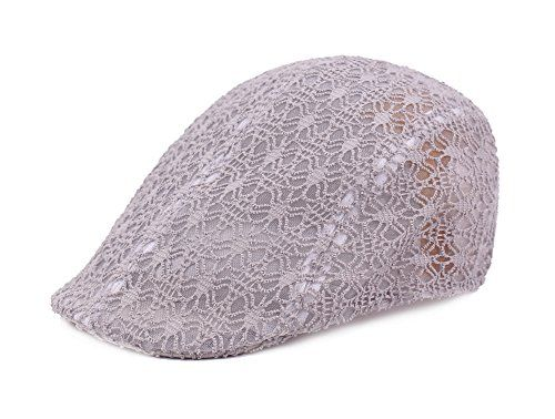 7.99 Qunson Women s Mesh Breathable Newsboy Cap Visor Sun Hat ... 02c3d299f149