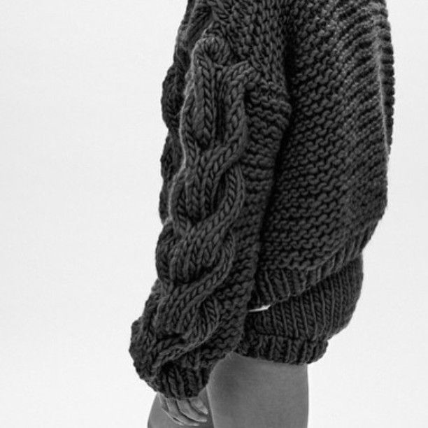 Contemporary Knitwear - chunky sweater with cable knit sleeve detail // I Love Mr Mittens
