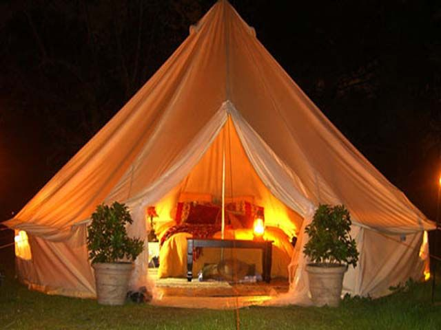 How can any tent be more cozy and inviting?