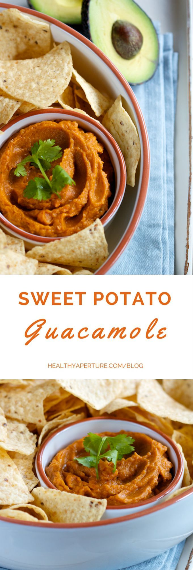 Sweet potato and avocado combine to create a sweet and savory guacamole, perfect for your favorite chips, veggies or tacos.