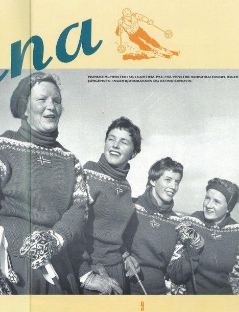 Denne genseren var en del av det offisielle antrekket til den norske OL-troppen ved vinter-OL i Cortina i 1956.