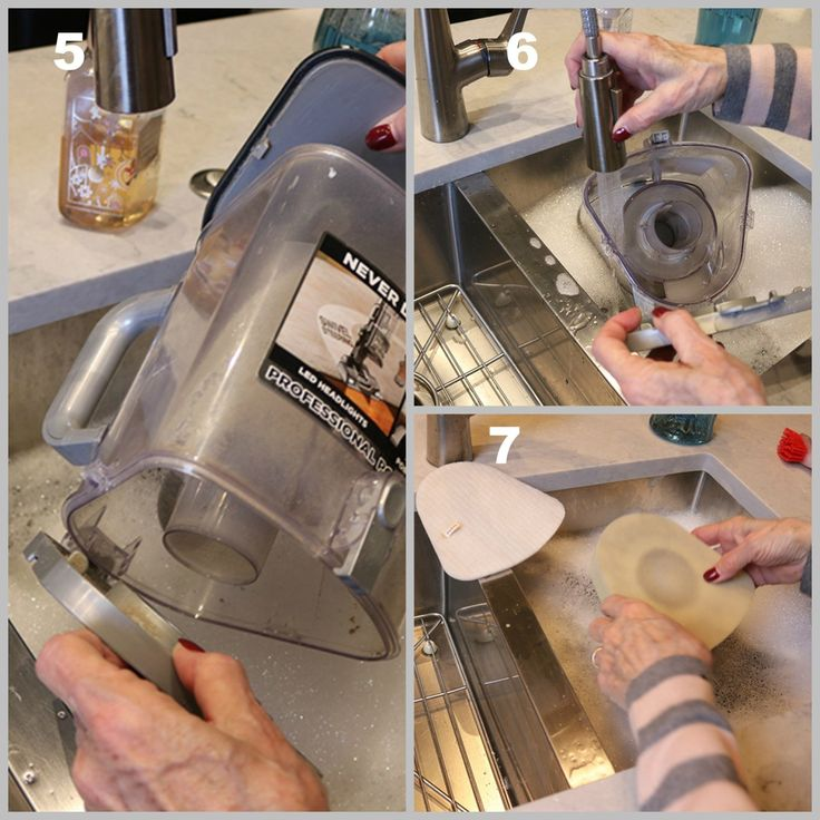 how to clean vacuum filter shark