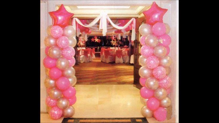 Decoracion con globos para 15 a os balloon design video - Decoraciones con globos ...
