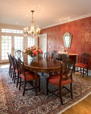 18 best peach terracotta dining room ideas images on for Traditional red dining room