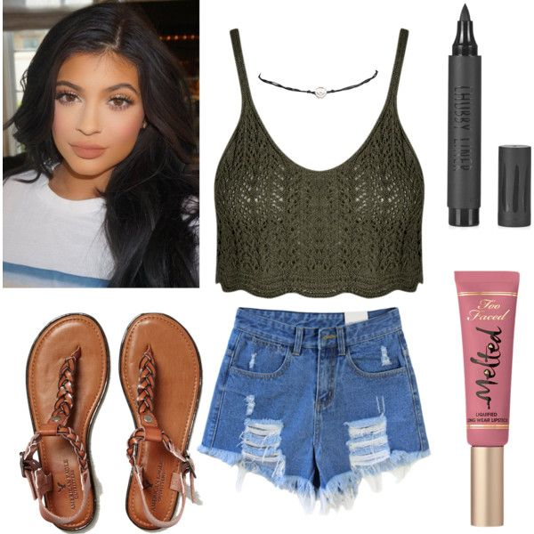 #California #girl #sungjinkim #Polyvore #featuring #polyvore #fashion #style #AmericanEagleOutfitters #Wet Seal #TooFacedCosmetics #cosmetics #Topshop