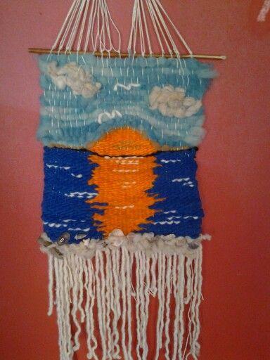 Telar nautico, lana natural de obeja $18.000 sandra___635@hotmail.com