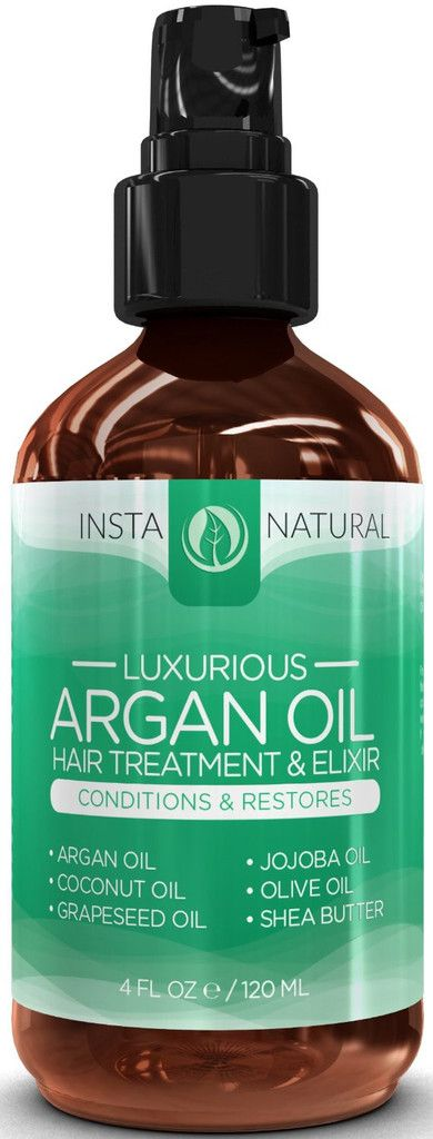 InstaNatural's Luxurious Argan Oil Hair Treatment & Elixir revitalizes weak, limp and lifeless hair. It quenches dryness to make your hair velvet smooth, tames frizziness and infuses instant long-lasting luminous shine. Our unique formula contains 100% buttery rich plant oils that penetrate the hair fiber and rehydrate the dry scales of hair cuticles to ensure vitality and strength. Panthenol strengthens the hair shafts by filling cracks and Shea butter thickens the hair to add volume.