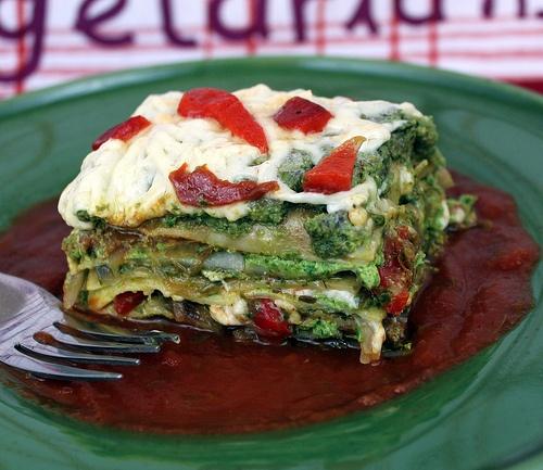 Pesto Lasagna #vegan by Weekly Vegan Menu
