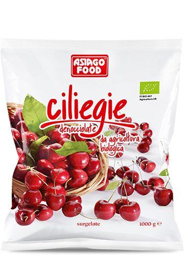 Ciliegie denocciolate Bio 1000g - Asiago Food. Queste dolcissime ciliegie sono adatti al Food service, pasticcerie e gelaterie.