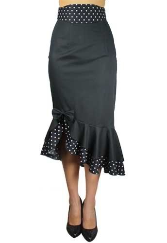 Pin Up Clothes: Polka Dot Pin Up Clothing Skirt