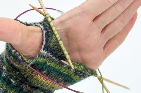 Finger gloves, half fingers with instructions