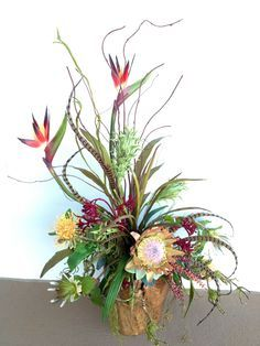 architectural flower arrangements spiky protea - Google Search
