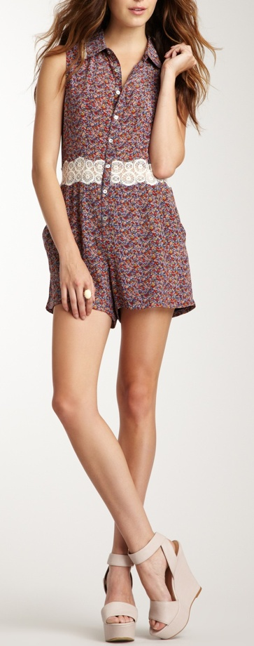 floral lace romper / charlotte ronson...absolutely love this!