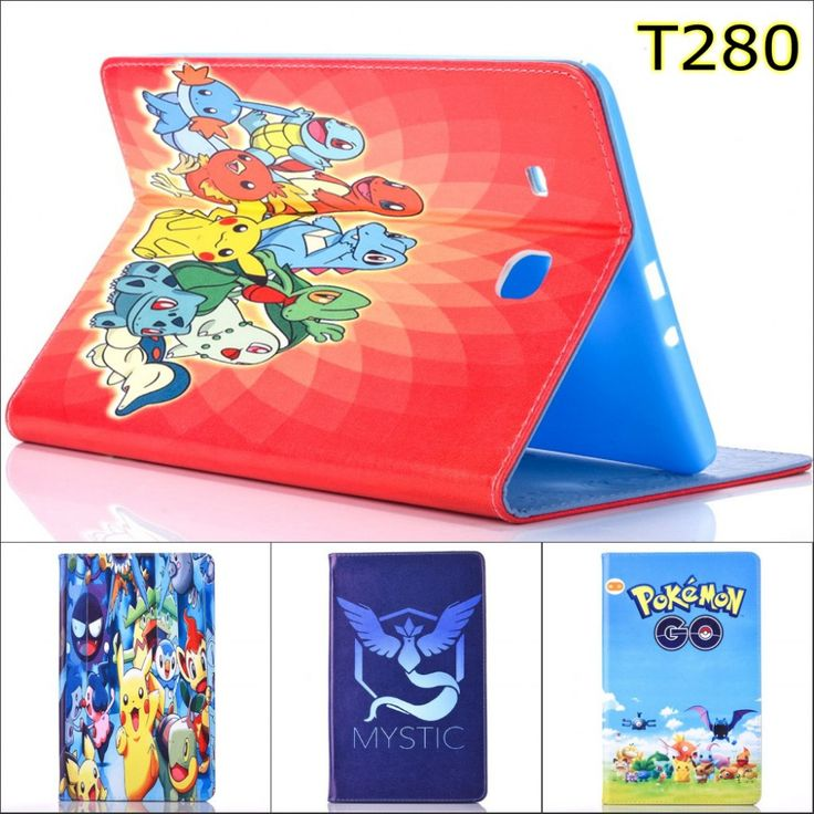 Pet Game Pokmon GO Articuno Moltres Zapdos tortoise leather Stand case cover for Samsung Galaxy Tab A 2016 7.0 T280 T285 SM-T280 #Affiliate