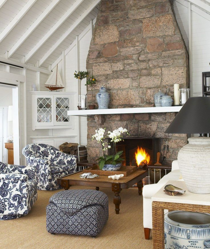 Main Living Room Cottage Blue White Traditional Resourcedir Home