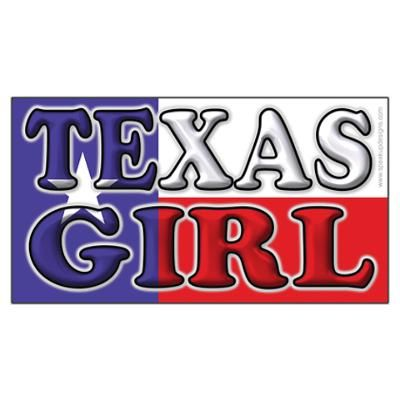 Texas Girl with Flag Poster
