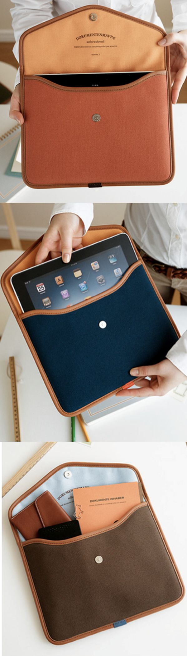 The iPad Pouch is a stylish and trendy bag for your iPad! Each bag has warm comforting colors, and will protect your iPad safely with the layers of protection! There is also a pocket in the rear to carry iPad related items for your convenience!