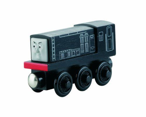 Thomas & Friends Wooden Railway - Diesel by Fisher-Price. $12.50. Easy-to-use magnet connects to other engines. Realistic engine details and styling. Expand your world of Thomas and Friends and create your very own Thomas adventures. Diesel is made of real wood. Works great with any Thomas and Friends Wooden Railway set. From the Manufacturer                Introducing our Diesel Wooden Railway Engine. Diesel believes that Steamies are no match for Diesels. Oily, ...