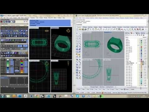 Matrix to Rhino CAD Tutorial part 1 - Ring Rails, Profiles, Gemstones and Bezels - YouTube
