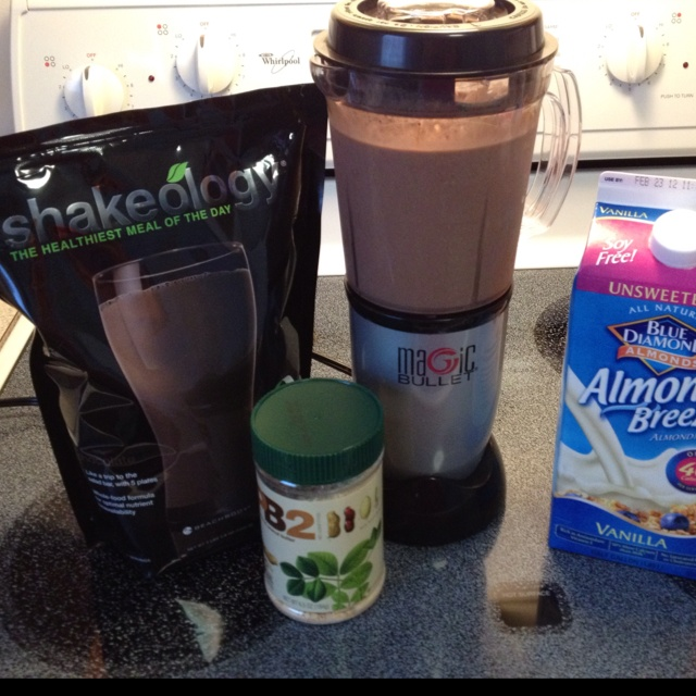 Shakeology + almond milk + PB2 + ice in the blender = The Healthiest Meal of the Day! Go to teambeachbody.com/SittingPretty04 to learn more about the health benefits of Shakeology