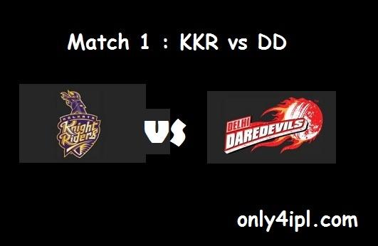 KKR vs DD match 1 highlights