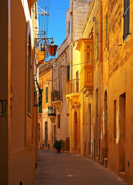 Curved Alley  A narrow alley in Rabat, Malta  By albireo2006      All Rights Reserved