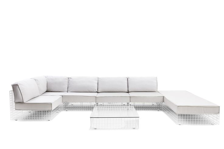 Grid design Kensaku Oshiro Collection in steel, cataphoresis treated, Powder coated Steel. #design #hotelfurniture #contractfurniture #outdoordesign #outdoorfurniture #furniture