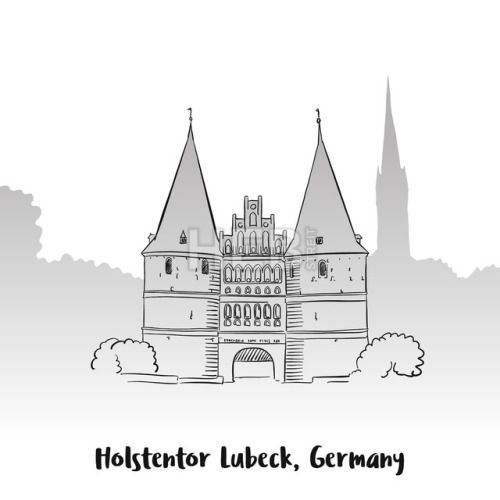 #Holstentor Lubeck Greeting Card #ArtIllustration #Landscapes #Travel  #Architecture #Blue #Building #Buildings #Church #ChurchTower #City #CityGate #Country #Drawing #Europe #Gate #Germany #Historical #Holstein #Holstentor #Lubeck #Lübecker #Marienkirche #Medieval #Memory #MiddleAges #NorthGermany #OfSchleswig #OfSchleswig-Holstein #Old #Old-Fashioned #Petrics #PointOfInterest #SaltStorage #Sketch #Sky #ToMakeAMark #Tourism #TouristAttraction #Towers #Vector #WorldHeritage #Worldly