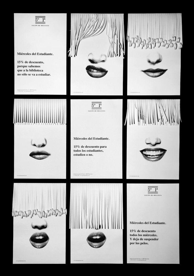 5º1ª SALÓN DE BELLEZA. Combed posters ///