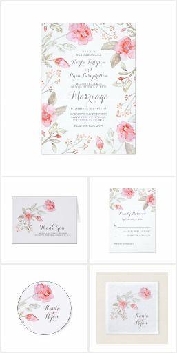 Roses and Baby's Breath Floral Wedding Collection roses and baby's breath blossoms floral bouquet wedding collection #weddingideas  #weddinginvitations  #rusticwedding #floralwedding