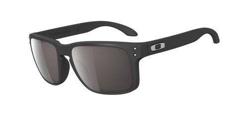 Oakley Herren Holbrook Rechteckig Sonnenbrille, Matte Black Warm Grey (S3)