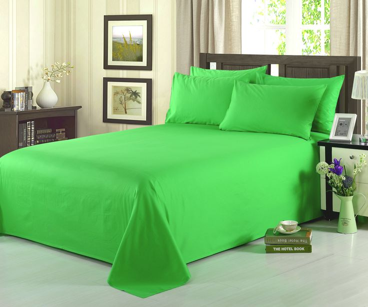 Add a spark of color to your bed set, With our Lime colored bedding. Great for a summer theme, of just brightening up your room. Includes Dimensions Cal King- Fitted Sheet; 72 X 84 +14 + Flat Sheet 10